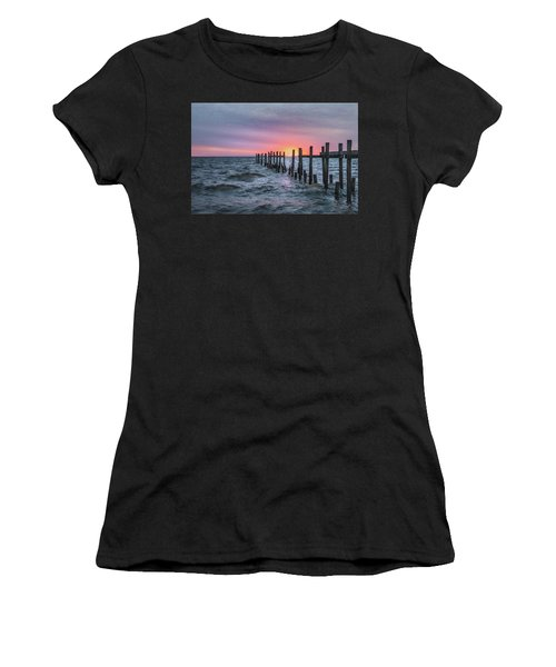 Women's T-Shirt featuring the photograph Gulf Coast Sunrise by James Woody