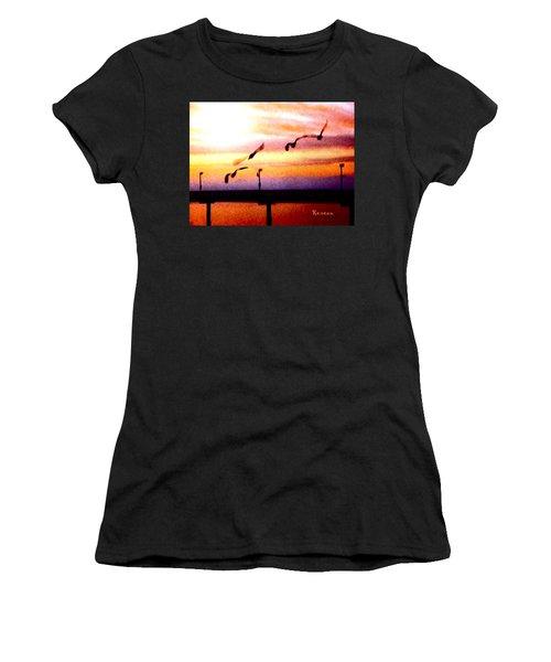 Gull Play Women's T-Shirt (Junior Cut) by Sadie Reneau
