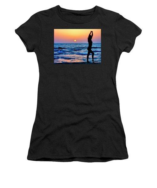 Gymnastics At Sun Set Over Mediterranean Sea Women's T-Shirt