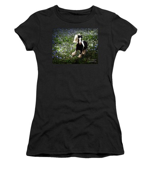 Women's T-Shirt (Athletic Fit) featuring the digital art Gypsy Garden by Melinda Hughes-Berland