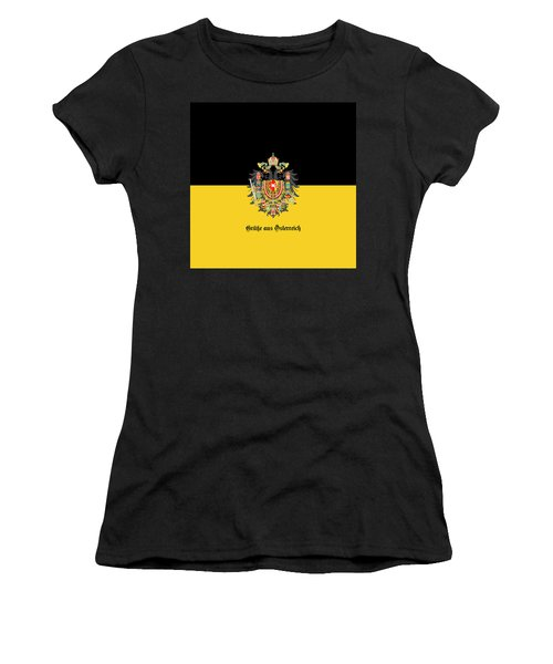 Habsburg Flag With Imperial Coat Of Arms 1 Greetings Women's T-Shirt (Athletic Fit)