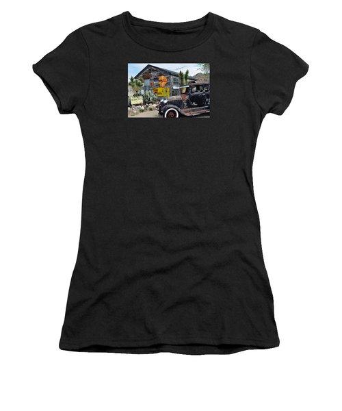 Hackberry Route 66 Auto Women's T-Shirt (Junior Cut) by Kyle Hanson