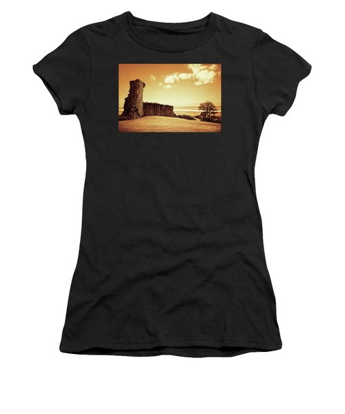 Women's T-Shirt (Athletic Fit) featuring the photograph Hadleigh Castle by Joseph Westrupp