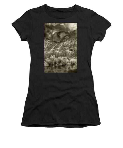 Half Dome Over Mirror Lake Women's T-Shirt