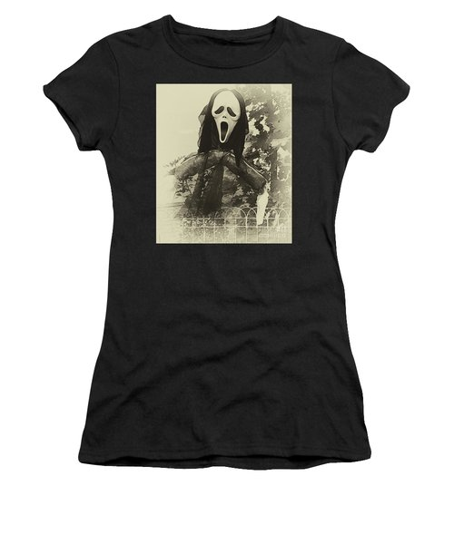 Halloween No 1 - The Scream  Women's T-Shirt (Athletic Fit)
