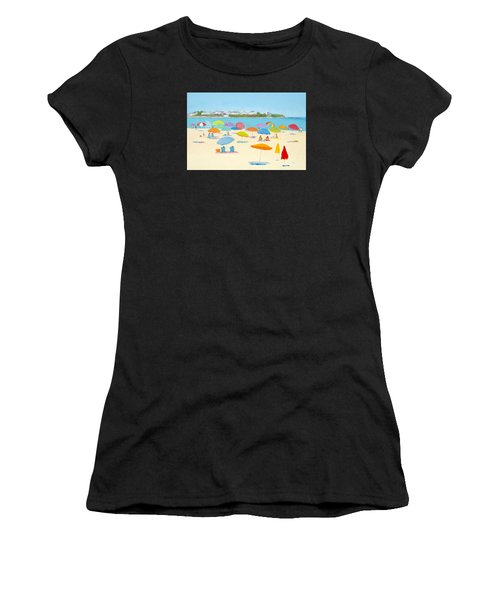 Hampton Beach Umbrellas Women's T-Shirt