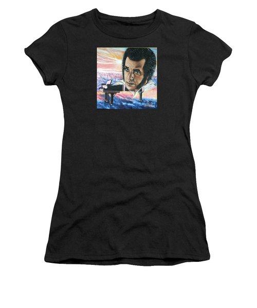 Blaa Kattproduksjoner       Hampton Hawes -jazz Pianist Women's T-Shirt