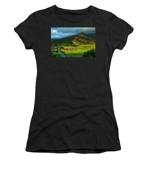 Hanalei Valley Taro Fields Women's T-Shirt
