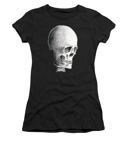 Hand Drawing Of The Skull - Pencil On Paper Women's T-Shirt