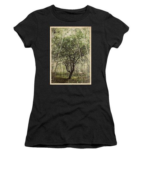 Hand Of God Apple Tree Poster Women's T-Shirt