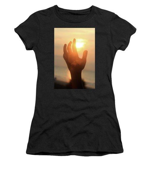 Hand Reaching Fore The Sun Women's T-Shirt