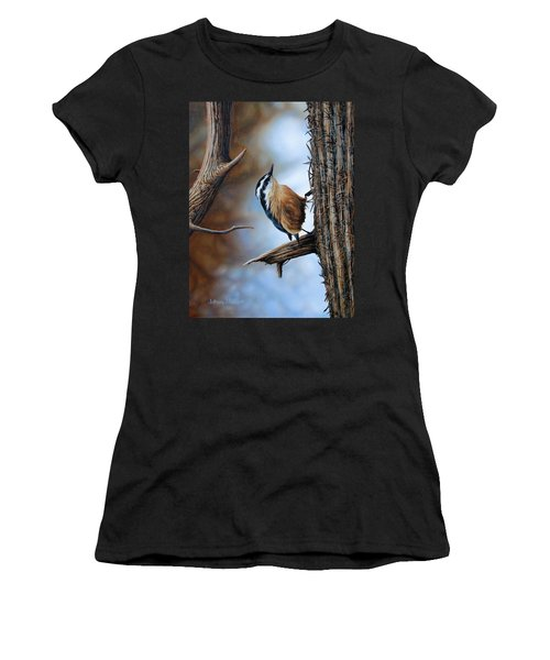 Hangin Out - Nuthatch Women's T-Shirt