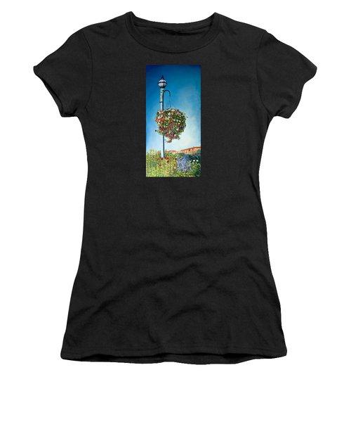 Hanging Basket Women's T-Shirt (Athletic Fit)