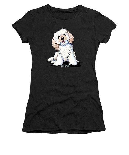 Happy Doodle Puppy Women's T-Shirt (Athletic Fit)
