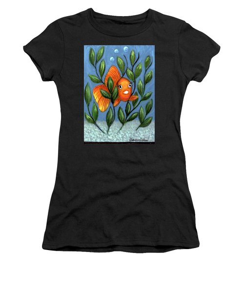 Happy Goldfish Women's T-Shirt (Athletic Fit)