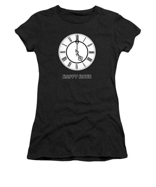 Happy Hour - On Black Women's T-Shirt
