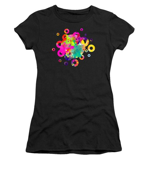 Happy Rings - Tee Shirt Design Women's T-Shirt (Athletic Fit)
