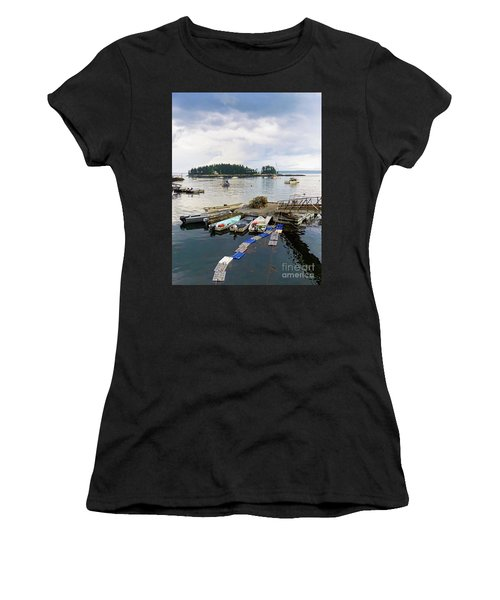 Harbor At Georgetown Five Islands, Georgetown, Maine #60550 Women's T-Shirt