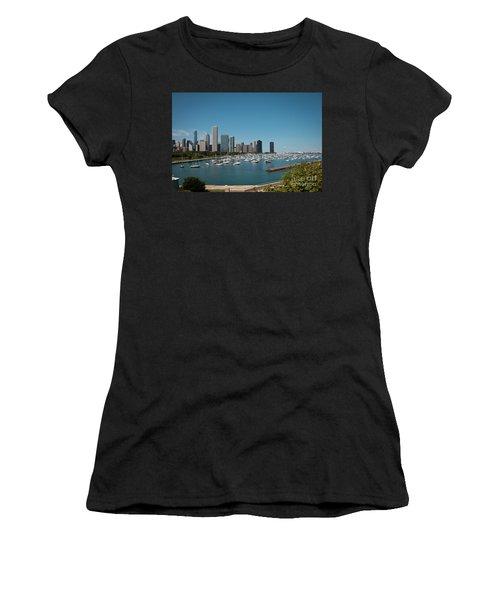 Harbor Parking In Chicago Women's T-Shirt