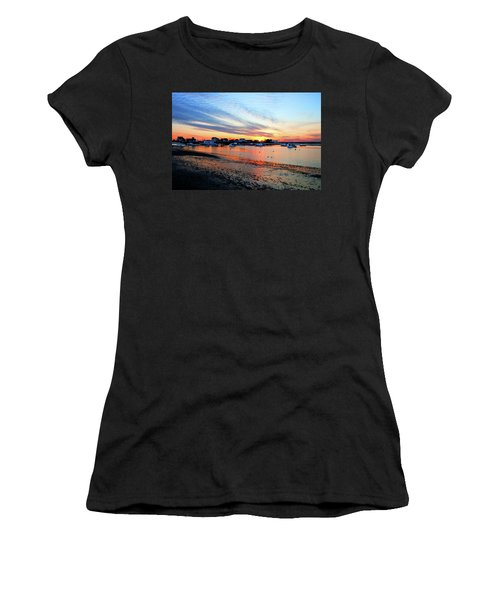 Harbor Sunset At Low Tide Women's T-Shirt (Athletic Fit)