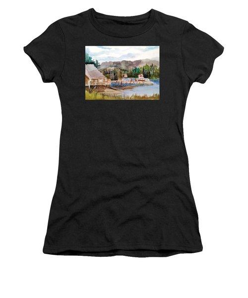 Harbour Scene Women's T-Shirt (Athletic Fit)