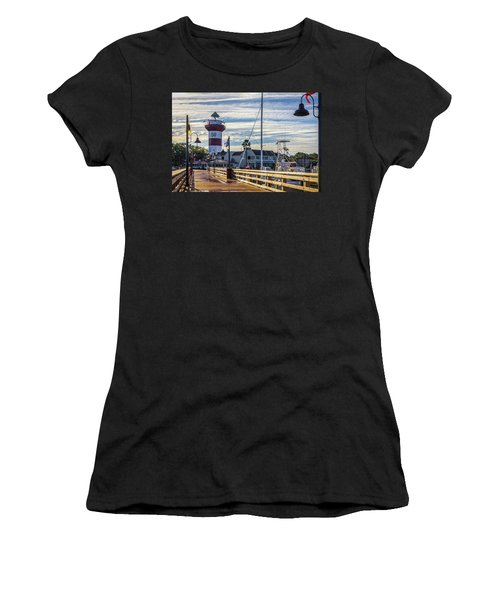 Women's T-Shirt featuring the photograph Harbour Town Lighthouse by Randy Bayne