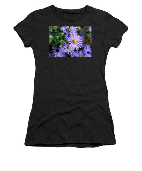 Hardy Blue Aster Flowers Women's T-Shirt