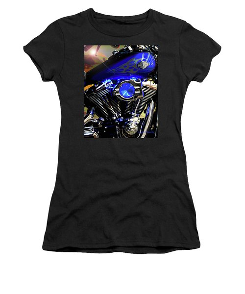 Harleys Twins Women's T-Shirt (Junior Cut) by DigiArt Diaries by Vicky B Fuller