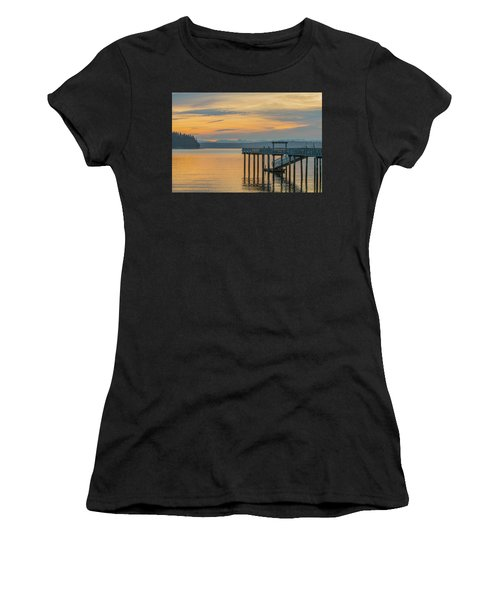 #harper Pier In The Morning Light Women's T-Shirt