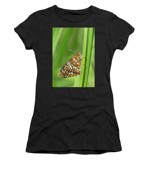 Harris' Checkerspot Women's T-Shirt (Athletic Fit)