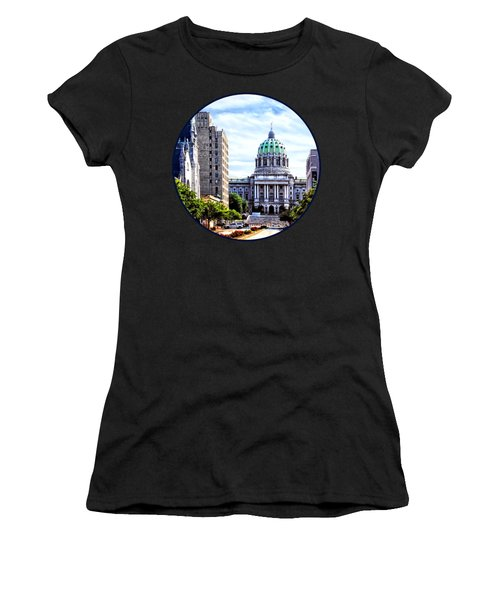 Harrisburg Pa - Capitol Building Seen From State Street Women's T-Shirt (Athletic Fit)
