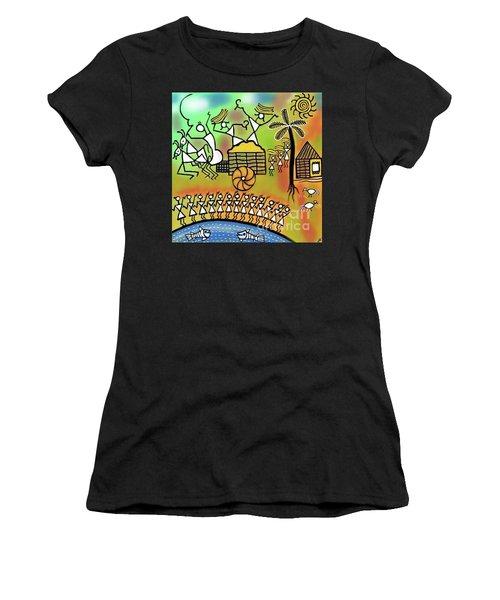 Harvest Women's T-Shirt (Junior Cut) by Latha Gokuldas Panicker