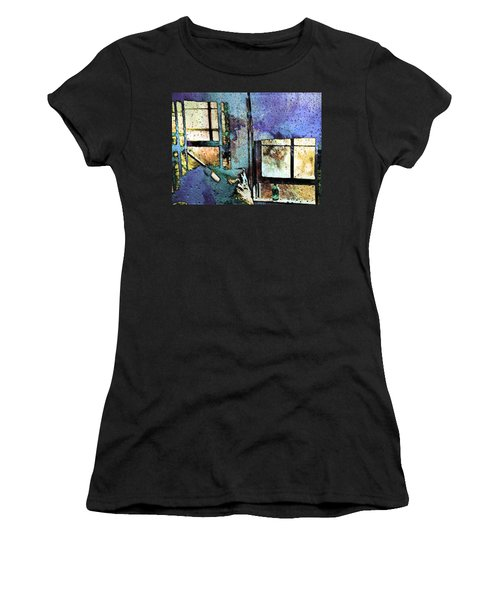 Hat And Glass Bottle Women's T-Shirt (Athletic Fit)