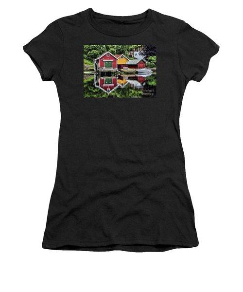 Haugesund Reflections Women's T-Shirt (Junior Cut) by Shirley Mangini