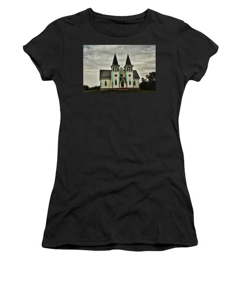 Haunted Kipling Church Women's T-Shirt (Junior Cut) by Ryan Crouse