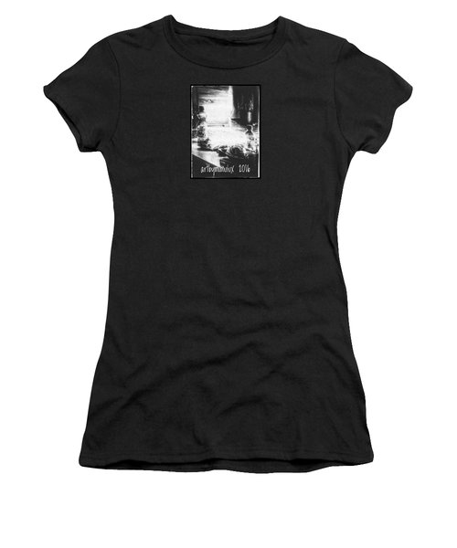 Women's T-Shirt (Junior Cut) featuring the photograph Haunted Room I by Mimulux patricia no No