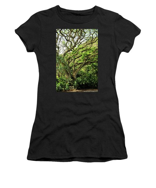 Hawaii Tree-bard Women's T-Shirt (Junior Cut)