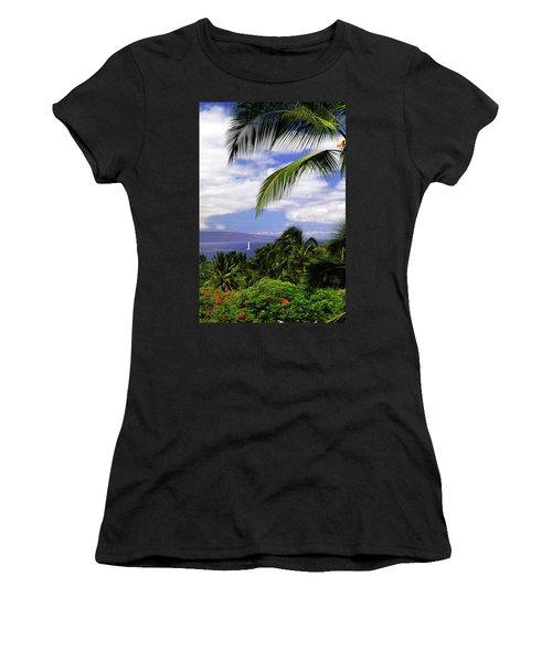 Hawaiian Fantasy Women's T-Shirt (Junior Cut) by Marie Hicks