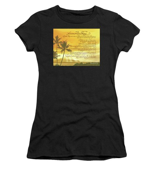 Hawaiian Wedding Blessing-sunset Women's T-Shirt