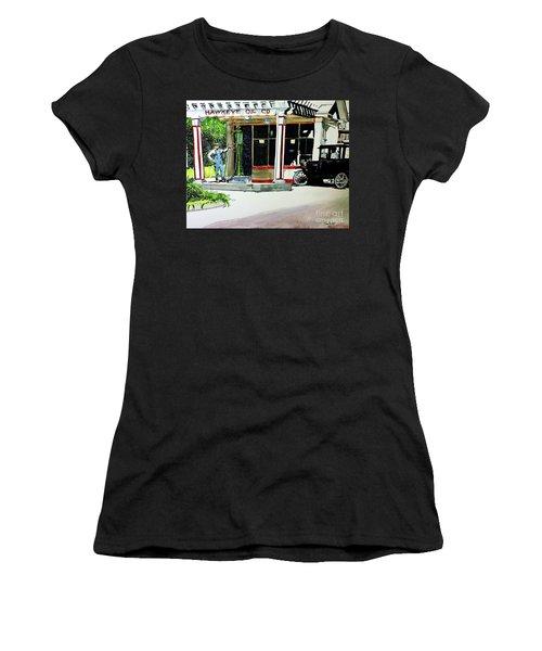 Hawkeye Oil Co Women's T-Shirt (Junior Cut) by Tom Riggs