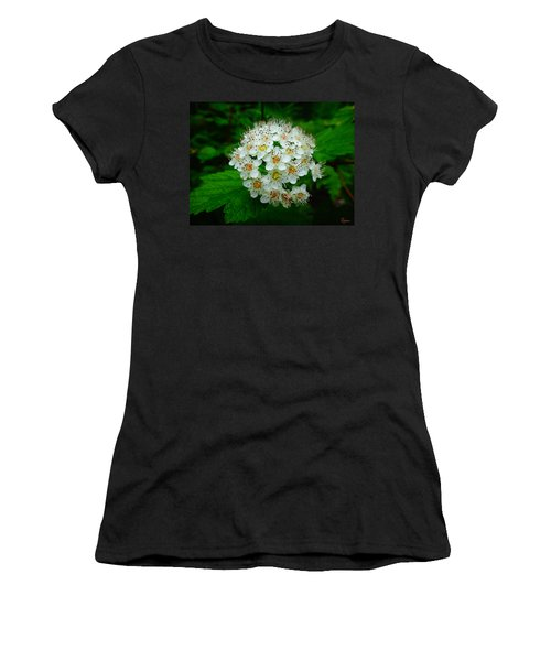Women's T-Shirt featuring the photograph Hawthorn Hearts by Rasma Bertz