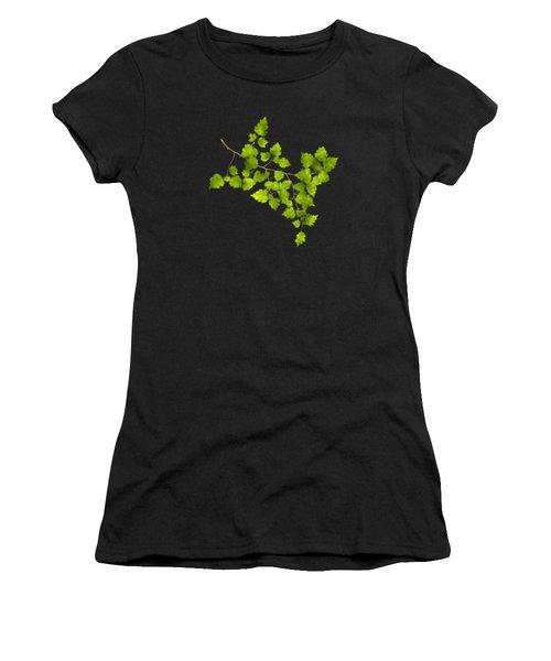 Hawthorn Pressed Leaf Art Women's T-Shirt (Athletic Fit)