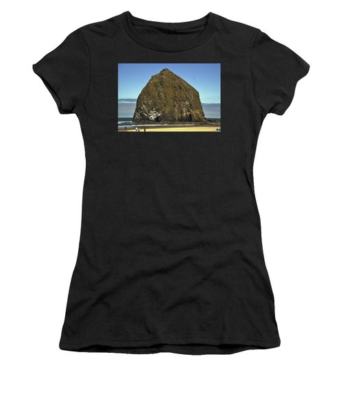 Haystack Rock, Cannon Beach, Or Women's T-Shirt (Athletic Fit)