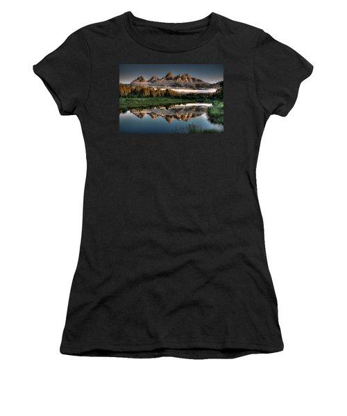 Hazy Reflections At Scwabacher Landing Women's T-Shirt