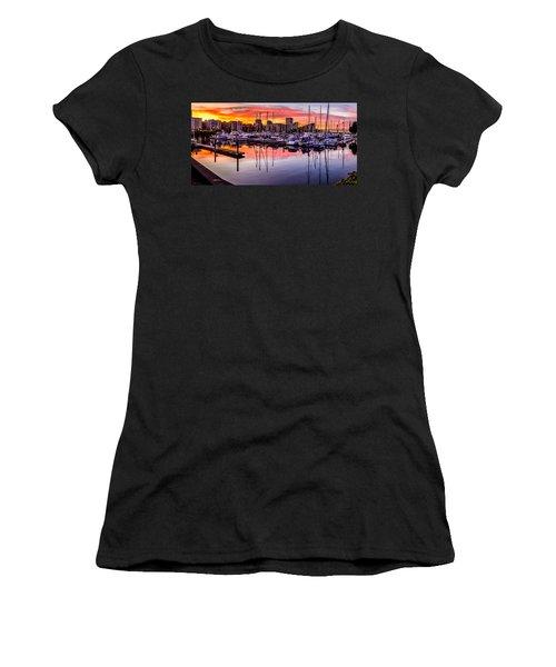Hdr Sunset On Thea Foss Waterway Women's T-Shirt
