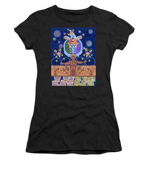 Women's T-Shirt (Athletic Fit) featuring the painting Healing - Nanatawihowin by Chholing Taha