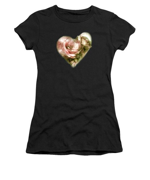 Heart Of A Rose - Antique Pink Women's T-Shirt