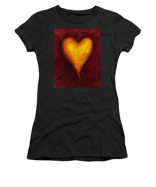 Heart Of Gold 1 Women's T-Shirt (Athletic Fit)