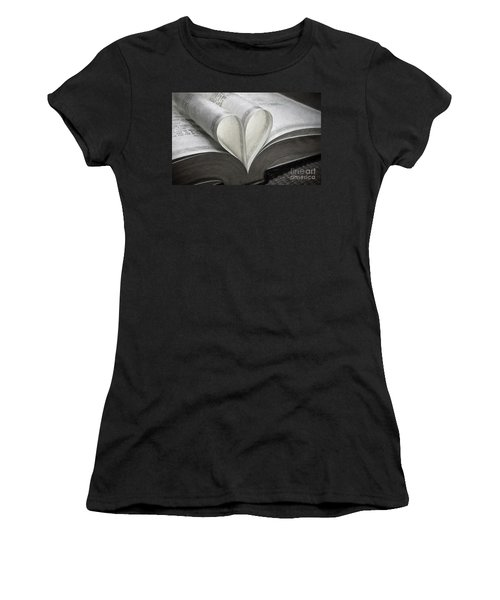 Heart Of The Book  Women's T-Shirt (Athletic Fit)