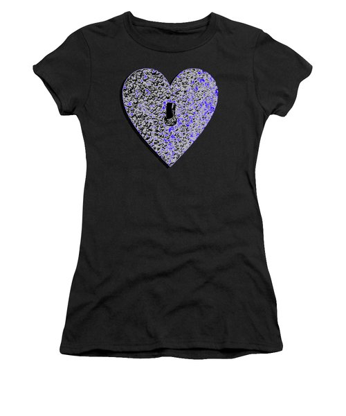 Heart Shaped Lock .png Women's T-Shirt (Athletic Fit)